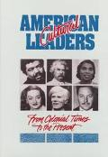 American Cultural Leaders: From Colonial Times to the Present