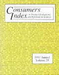 Consumers Index to Product Evaluations and Information Sources: 1997 Annual (Consumers Index to Product Evaluations and Information Sources Annual)