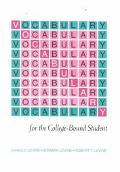 Vocabulary for the College Bound Student #R573S (3rd rev ed)