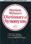 Merriam Webster's Dictionary of Synonyms A Di