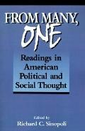 From Many, One Readings in American Political and Social Thought
