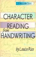 Character Reading from Handwriting - Louise Rice - Paperback