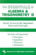 Essentials of Algebra and Trigonometry II