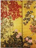 Japanese Screen Edo Period Screen With Trees And Flowering Plants, 18th Century