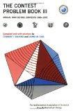 Contest Problem Book III Annual High School Contest 1966-1972  Of the Mathematical Associati...