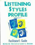 Listening Styles Profile, Includes One Answer Sheet, One Interpretation Guide Sheet, and the...