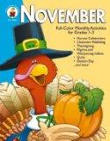 November: Full-Color Monthly Activities for Grades 1-3