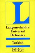 Langenscheidt's Universal Turkish Dictionary Turkish-English/English-Turkish