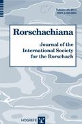 Rorschachiana Vol. 35 : Journal of the International Society for the Rorschach