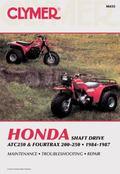 Honda Shaft Drive Atc250 and Fourtrax 200-250  1984-1987  Service, Repair, Maintenance/A455