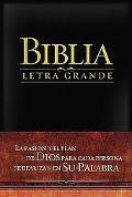 Biblia Letra Grande RV 1909, Imitacion Piel Negra