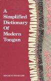 A Simplified Dictionary of Modern Tongan