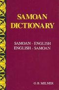 Samoan Dictionary: Samoan-English, English-Samoan - G. B. Milner - Hardcover - REPRINT