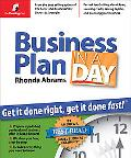 Business Plan In A Day Get It Done Right, Get It Done Fast!