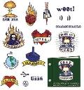 Geek Tattoo's : 16 Temporary Tattoos