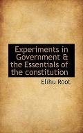 Experiments in Government & the Essentials of the constitution