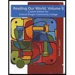 READING OUR WORLD,VOL.II >CUST
