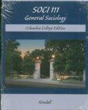 Soci 111 General Sociology Columbia College Edition