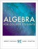 Bundle: Algebra for College Students, 9th + Enhanced WebAssign Homework with eBook Access Ca...