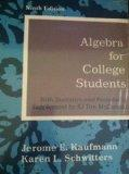 Algebra for College Students with Statistics and Probability (Algebra For College Studens wi...