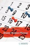 Becoming a Master Student Planner 2011-2012