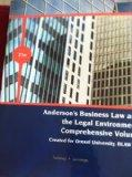 Anderson's Business Law and the Legal Enironment Comprehensive Volume (Created for Drexel Un...