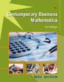 Contemporary Business Mathematics for Colleges (with CD-ROM)