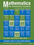 Mathematics for Elementary Teachers: a Contemporary Approach 10e Student Hints and Solutions...