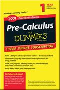 1,001 Pre-Calculus Practice Problems for Dummies Access Code Card (1-Year Subscription)