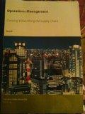 Operations Management: Creating Value Along the Supply Chain (San Jose State University BUS ...