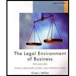LEGAL ENVIRONMENT OF BUS. >CUS