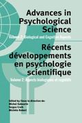 Advances in Psychological Science, Volume 2 : Biological and Cognitive Aspects