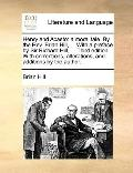 Henry and Acasto : A moral tale. by the Rev. Brian Hill, ... with a preface by Sir Richard H...