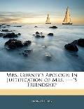 Mrs Gurney's Apology : In Justification of Mrs. ----'s Friendship