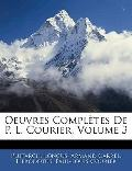 Oeuvres Compltes De P. L. Courier, Volume 3 (French Edition)