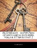 Proceedings - Institution of Mechanical Engineers, Volume 177,part 2