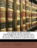 Laws Relating to Business Corporations : Being Chapter 437, Acts of 1903, with Additional Ac...