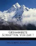 Gesammelte Schriften, Volume 1 (German Edition)