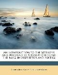 Introduction to the Methods and Materials of Literary Criticism : The Bases in Aesthetics an...