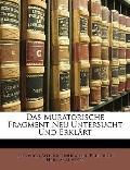 Muratorische Fragment Neu Untersucht und Erklärt