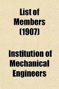 List of Members (1907)