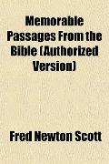 Memorable Passages From the Bible (Authorized Version)