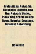 Professional Networks : Younoodle, Linkedin, Law Firm Network, Viadeo, Plaxo, Xing, Schmooze...