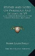 Studies and Notes on Philology and Literature V9 : Scandinavian Influences in the English Ro...