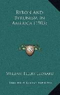 Byron and Byronism in America