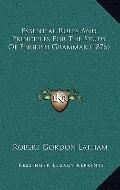 Essential Rules and Principles for the Study of English Grammar