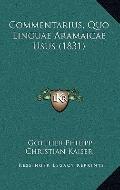 Commentarius, Quo Linguae Aramaicae Usus