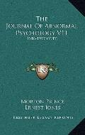 Journal of Abnormal Psychology V11 : 1916-1917 (1917)