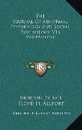 Journal of Abnormal Psychology and Social Psychology V16 : 1921-1922 (1921)