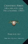 Grundriss Einer Geschichte der Philosophie